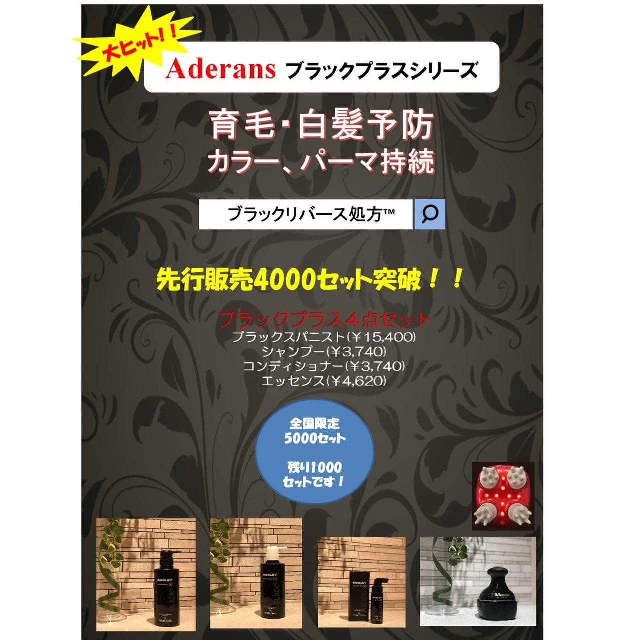 大ヒット!!アデランスブラックプラスシリーズ